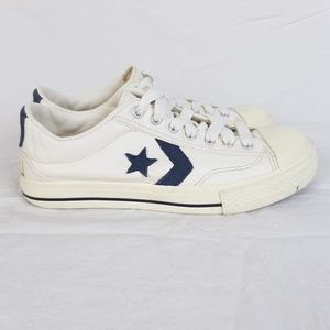 Converse Chuck Taylor White Blue Star Low Shoes